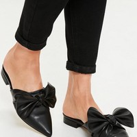 Missguided - Black Knot Front Pointed Mules