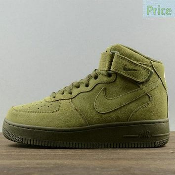 casual shoes ventilated Nike Air Force 1 Mid Olive Legion Green Mens Skate Sneaker 315123-302 sneaker