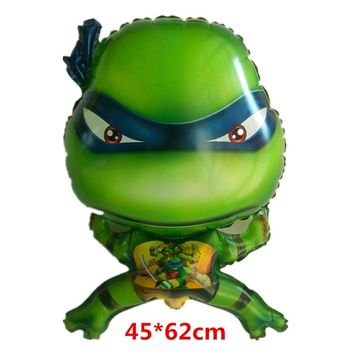 Free Shipping Mutant Ninja Turtles balloons cute cartoon Turtles balloon globo party decorations child toys halloween supplies