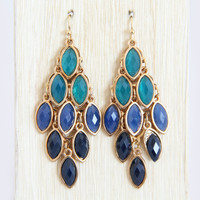 Blue Gypsy Dangle Earrings