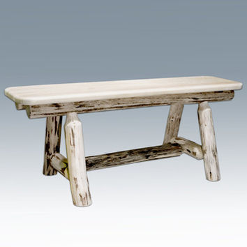 Montana Woodworks Plank Style Bench in Clear Lacquer