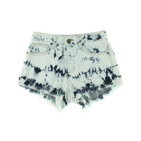 Guess Womens Juniors Denim Acid Wash Cutoff Shorts
