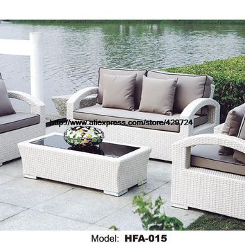 White Rattan Sofa Purple Cushions Garden Outdoor Patio Sofa Rattan Furniture Swing Pool Table Chair Rattan Sofa Set