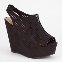 Soda Arana Womens Wedges Black  In Sizes