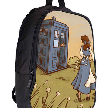 Princess Disney Tardis dbf05d4c-28d9-4047-9f4f-7ac73079288a for Backpack / Custom Bag / School Bag / Children Bag / Custom School Bag *02*
