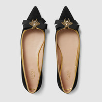 Gucci Suede point toe flat