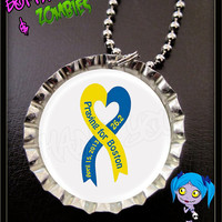 PRAY FOR BOSTON - 100% goes to Charity - One Fund Boston - Your Choice of Necklace Zipper Clip or Key Ring Magnet