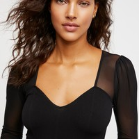 Free People Sweetheart Puff Sleeve Top