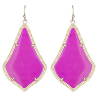 Kendra Scott Alexandra Drop Earrings Magenta