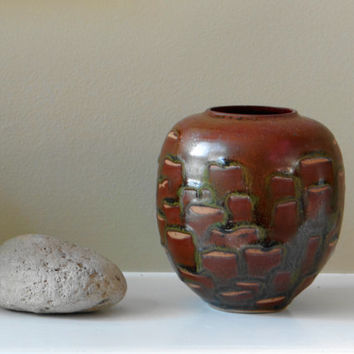 Dark brown stoneware vase, small vase, bud vase, mother's day gift