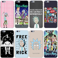rick and morty Hard Transparent Cover Case for iPhone 7 7 Plus 6 6S Plus 5 5S SE 5C 4 4S