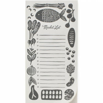 Woodblock Market List Pad