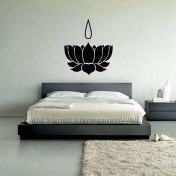 rvz284 Wall Vinyl Sticker Decal Symbol Lotus Carrying Namam Native Inks Egypt (Z284