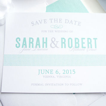 Mint Save the Date Card - DEPOSIT