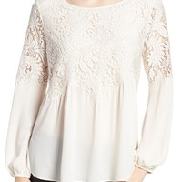 Chelsea28 Button Back Lace Top | Nordstrom
