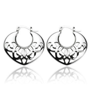 Tribal Moon - Symbol Of Love and Protection Stainless Steel Finely Crafted Earrings