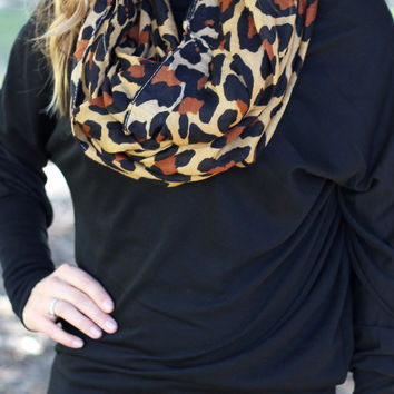 Leopard Scarf Brown
