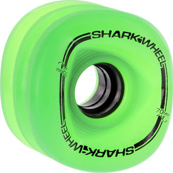 Shark Sidewinder 70mm 78a Green Transparent Longboard Wheels. Set of 4