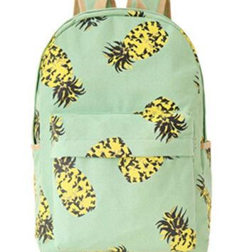 Backpack with Pineapple Fruit Print