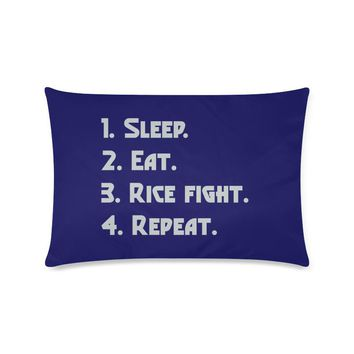 """Blue Houston University """"Checklist"""" Rectangle Pillow Case (Twin, Full, Queen, or King)"""