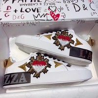 DOLCE & GABBANA Fashionable and recreational small white shoe
