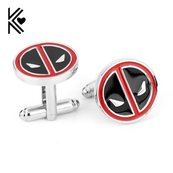 Deadpool Dead pool Taco High Quality Movie Superhero  Shirt Brand Cuff Buttons Top Grade Enamel Cufflinks For Mens Gifts New Fashion Cuff Links AT_70_6