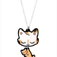 Hey Chickadee - Calico mommy cat necklace