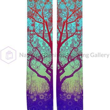 Red Star Trip Tree Knee High Socks