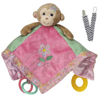 Mary Meyer 41305 Maddie Monkey Activity Baby Blanket with Pacifier Clip