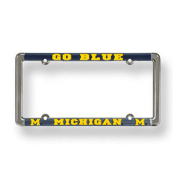 University of Michigan License Plate Frame-Go Blue