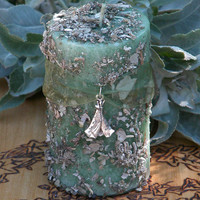Shamans Wisdom . Ritual Pillar Candle 2x3 Pillar . Spiritual Healing, Intuitive Wisdom, Change, Nature and Spirit Workings