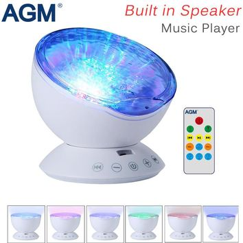 Ocean Wave Starry Sky Aurora LED Night Light Projector Lamp