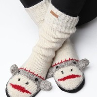Delux Cute Sock Monkey Slipper Socks