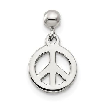 Sterling Silver Mio Memento Dangle Peace Charm
