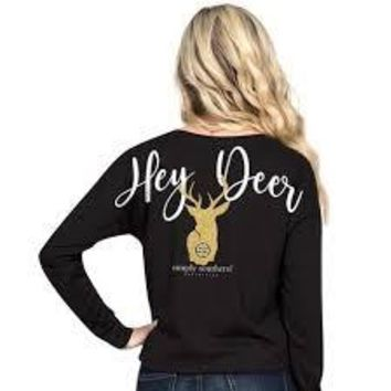 "Simply Southern ""Deer"" Long Sleeve Shortie"