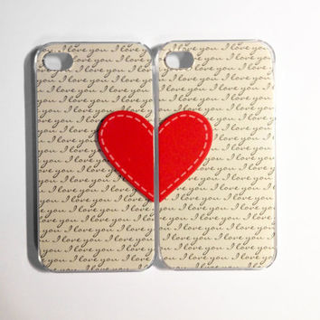 I Love You Stitches iPhone 4/4S cases by VanityCases on Etsy