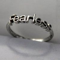 Stylish Letter Fearless Embellished Women's Ring