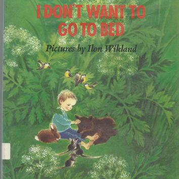 Astrid Lindgren, I Don't Want To Go To Bed, Vintage Children's Book, 1988 Sound Hardcover With Dust Jacket, Vintage Book