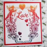Love Cupid Valentines Day Card, 4.25