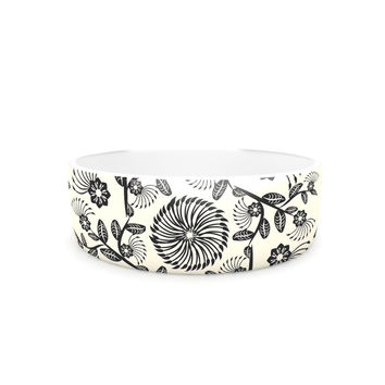 "Famenxt ""Black & White Decorative Mandala"" Geometric Pet Bowl"