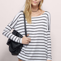 Simple Design Classics Stripes Bat Long Sleeve T-shirts Cotton Bottoming Shirt [6331543876]