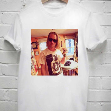 Custom Tshirt macaulay culkin wearing tshirt ryan gosling screenprint