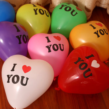 2017 Promotion  Juguetes 1pcs 12 Inch Inflatable Ball Novetly Wedding Party Decoration Love Heart Shape Latex balloons
