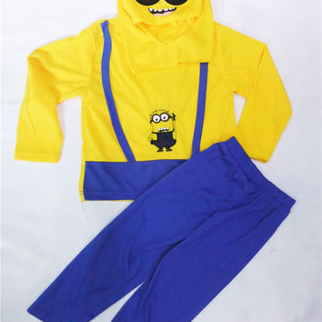 Minions Costume, Halloween Costume for Kids, 3-8 Years Boys Disfraces Carnival, Child Clothing Set