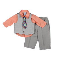 Perry Ellis Portfolio Baby Boys 4PC Outfit