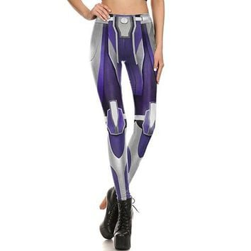 Metallic Purple Armor Leggings