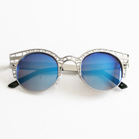 IWAKI SUNGLASSES - SILVER/BLUE