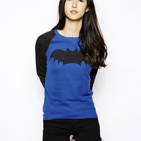 Zoe Karssen Bat Loose Fit Sweater With Contrast Sleeves