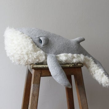 Grandpa Whale Stuffed Animal <0> Plush Toy <0> Cotton Jersey & Faux Fur