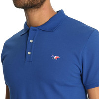Maison Kitsuné Blue Royal Blue Renard Polo Shirt